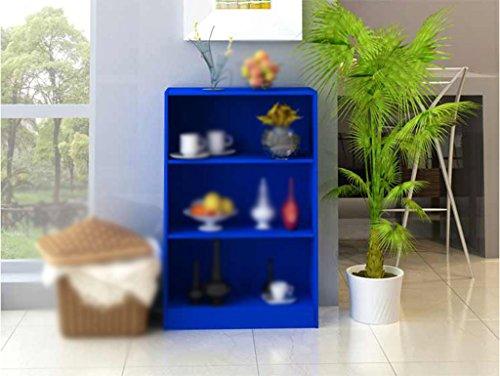 DFHHG® Librería, Estantería Tres Camas Azul Armario de Acabado durable