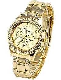JS Direct jwq00931 - Reloj para mujeres, correa de acero inoxidable