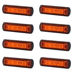 8x 4SMD LED arancione luce di indicatore laterale 12V 24V e-contrassegnato auto camion rimorchio camper caravan furgone tetto luce di posizione ambra Cab top universale