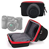 DURAGADGET Shock-Absorbing Protective Compact Camera Case (Black & Red) for Sony A6000 | NEX-5T, NEX-6L, NEX 5R, NEX-6, NEX-6L, NEX-7 | RX100 II | DSC-RX100M2 | RX1R / DSC-RX1RM2 | A7R | 5N | F3