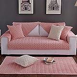 Liveinu Fleece Plüsch Warm Matte mit Anti-Rutsch Gesteppt Sofaüberwurf Sesselschutz Spielmatte Japanischer Tatami Teppich Für Fußboden Sofa und Bett 70x180cm Rosa