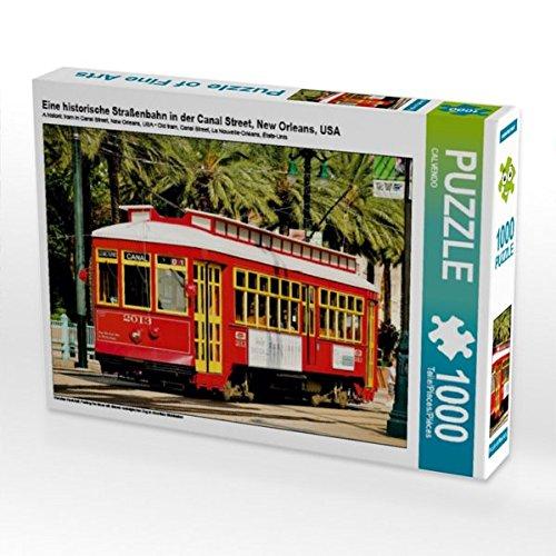 Eine historische Straßenbahn in der Canal Street, New Orleans, USA 1000 Teile Puzzle quer (CALVENDO Mobilitaet) (Soziologie Von Amerika)