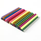CLE DE TOUS - Un paquete Barras de pegamento termofusible color con purpurina Barras para Pistola Adhesivo Termofusible Silicona (30pcs Colores)