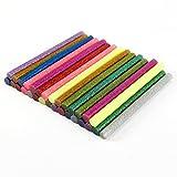 30 x bunt farbig Heißklebesticks Klebesticks Klebestifte GLITTER Heisskleber Kleber Heißleim 100mm