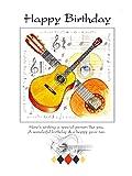 Geburtstagskarte, 17,8 X 12,7 cm, Motiv Gitarre