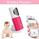 Clever Dog Wireless Security Wifi Cameras/Smart Baby Monitor/Surveillance Security Camera With P2P, Night Vision, Record Video, Two-way Audio, Motion Detection, Iphone Ipad Android(with Adaptor) (Pink)