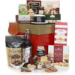 Cesta de gourmet de Navidad - Cestas de regalo de Navidad sin alcohol para él o para ella