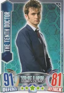 Alien Attax - 218 THE TENTH DOCTOR (Time Lord) Individual Trading Card.