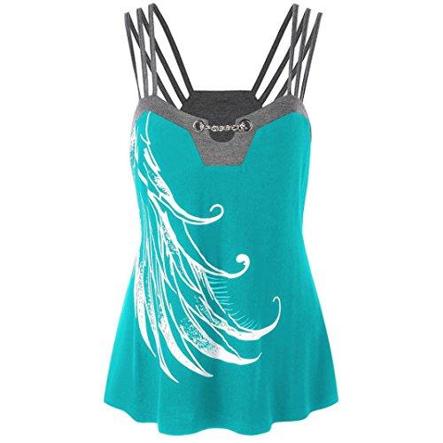 BHYDRY Damen Damen Lässige Blumen Splice-Streifen Druck Rundhalsausschnitt Pullover Bluse Tops T-Shirt (Neue Braune Streifen)