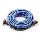 Ocamo 5m 2RCA auf 2Cinch Stecker Auto Audio Kabel Automarke Verstärker-System geflochten Kupfer Kabel car-styling