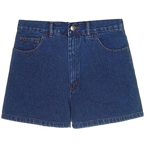 Herren Kurze-Hose Denim Jeans-Shorts Bermuda Capri Vintage Cargo Sport 21306, Größe:48;Farbe:Blau