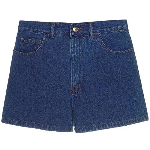 Herren Kurze-Hose Denim Jeans-Shorts Bermuda Capri Vintage Cargo Sport 21306, Größe:60;Farbe:Blau (Loose Fit Jean Shorts)