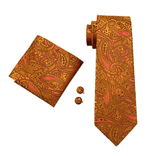 hi-tie-corbata-para-hombre-naranja-naranja-talla-nica