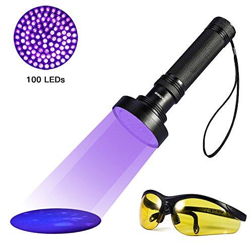 Torcia UV LED Lampada 100 LED ultravioletta da e...