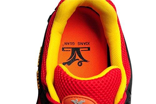 Xiang Guan Femme Lace-up Mesh Respirant Chaussures de Trekking Trail Walking Camping Randonnée Outdoor Footwear Rouge