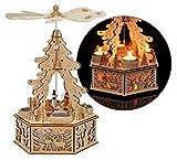 Weihnachtspyramide mit LED Beleuchtung für 4 Teelichter