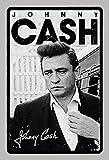 Die besten Von Johnny Cashes - Johnny Cash schwarz weiß musiker legende schild aus Bewertungen