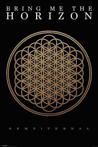 "Empire Merchandising GmbH - Poster ""Bring Me the Horizon Sempiternal"", con cornice multicolore"