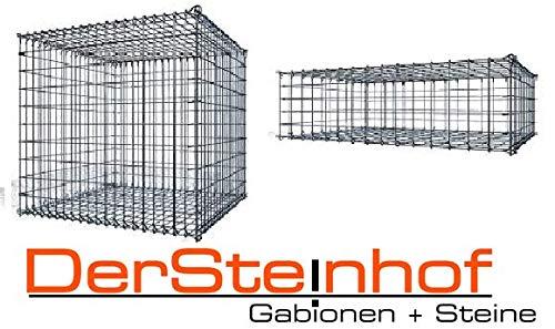 monotecR | stabil und verletzungsarm | Sicherheitsgabione durch Ösen-Steckschließen-System | Made in Germany | 5x10cm | (Ø 5,0 mm | 200x100x100cm -