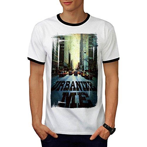 Urbanisieren Mich Stadt Mode Straße Fahrt Herren M Ringer T-shirt | (Leder Fahrt Kostüme)