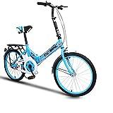 XQ- XQ166URE Faltrad Fahrrad Ultraleicht Bequemlichkeit Mini Kleinräumig Einzelgeschwindigkeit Dämpfung