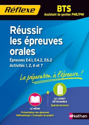 Réussir les épreuves orales BTS AG PME PMI par Muriel Couteux