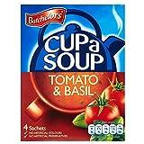 Batchelors Taza De Sopa De Tomate Y Albahaca Rica (4 Por Paquete - 104g) (Paquete de 6)