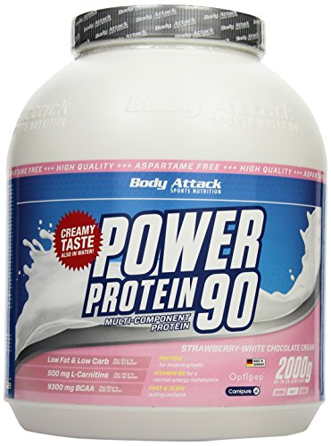 Body Attack Power Protein 90, Strawberry White Chocolate Cream, 2kg Dose