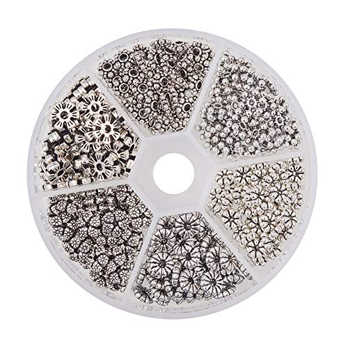 PH PandaHall 300 STÜCKE 6 Stil Antike Silberne -