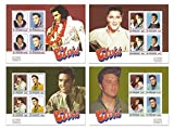 La collection de timbre Elvis Presley ultime avec 4 feuillets de timbres de menthe comportant le Roi du Rock and Roll