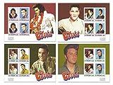 La collezione di francobolli di Elvis Presley finale con 4 Foglietti bollo di menta che caratterizzano il Re del Rock and Roll - Stampbank - amazon.it
