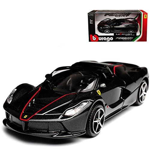 Bburago Ferrari Aperta Laferrari Cabrio Schwarz Ab 2016 1/43 Modell Auto