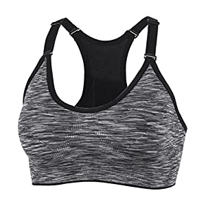 510xahcSBVL. SS300  - xcylive Women 1 or 5 Pack Yoga Bra Adjustable Straps and Removable Pads Tank Top Seamless Racerback