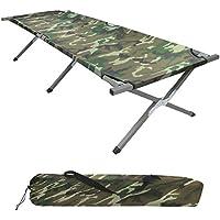 BB Sport Feldbett190 x 64 x 41 cm stabiles Campingbett mit Stahlrohr verstärkt bis 120 kg belastbar