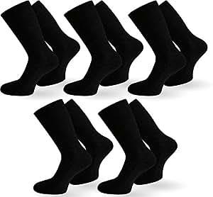 10 Paar Diabetiker Gesundheitssocken Herren Socken ohne Gummi Farbe Schwarz Größe 35/38