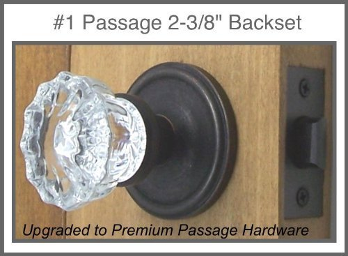 The Very Best Fluted Depression Crystal Door Knob Set. A Duplicate of the Early American Classic, Now Custom Made for Modern-drilled Doors. The Very Finest Time-tested Hardware with Many Exclusive Enhancements (Oil Rubbed Bronze) (Passage 2-3/8) by Rousso's Reproduction Fluted Crystal
