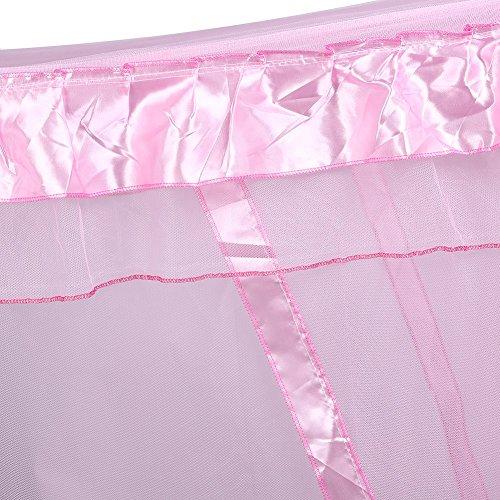 Prinzessin Schlafzimmer (Vier Eckpost Bett Baldachin Vorhang Moskitonetz Schlafzimmer Kinderzimmer Zimmer Prinzessin Stil Netting Bettwäsche Nette Dekoration ( Farbe : Rosa , Abmessung : 1.5m*2m ))