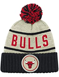 Chicago Bulls Flocons d'avoine chiné rayures manchette Pom Bonnet en tricot pour chapeau/bonnet