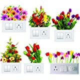 Decals Creation Vinyl Flowers Switch Board Sticker, 23.62 x 29.92 x 0.39 Inches, Multicolour