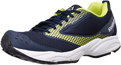 Reebok Men's Zest Navy/Yellow Running Shoes - 8 UK/India (42 EU) (9 US)