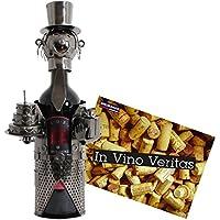 BRUBAKER Porte-bouteille de Vin décoratif - Sculpture en Métal - Idée cadeau - Anniversaire