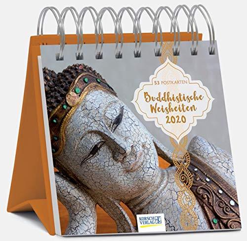 Buddhistische Weisheiten 2020: aufstellbarer Wochen-Postkartenkalender