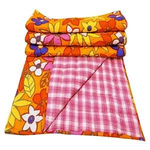 handicrunch yellow cotton baby steppdecke handgefertigte krippe gr e blumendruck bett blatt. Black Bedroom Furniture Sets. Home Design Ideas