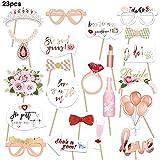 Blentude 23pcs accessoires de fête de mariage papier barbe photo décoration de...