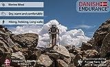 Merinowolle Wandersocken von DANISH ENDURANCE (Braun) - 3
