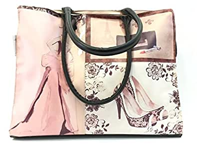 Borsa donna Grazia's Choice Camomilla, a Spalla, Shopper Femme & Shoes, ecopelle stampata COD. 00959