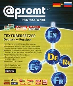 PROMT Professional 7.8 Russisch-Deutsch/Deutsch-