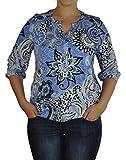 SOYACONCEPT - Damen Bluse in verschiedenen Farben, SC-Felicity AOP 231 (23957-30), Größe:M, Soyakoncept Farbe:Hellblau (6260)