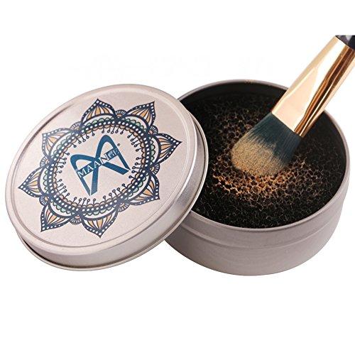 Weicici Make-up Pinsel Reinigung Box Make-up Pinsel Trockenreinigung Schwamm Farbe Reiniger Make-up-Tool Schwamm Pinsel Pulver Reinigung Box