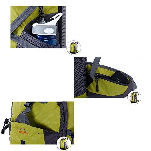YAAGLE Wasserdicht Bergsteigen Taschen 50 L outdoor Rucksack Gepäck vielfältig Farben Trekkingrucksack Reisetasche Orange